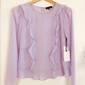 1.State  lavender blouse